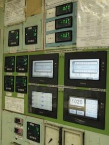 Панели оператора и приборы измерительные на БЩУ