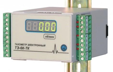 Тахометр электронный под DIN рейку ТЭ-6К-ТК-2-24В-Д